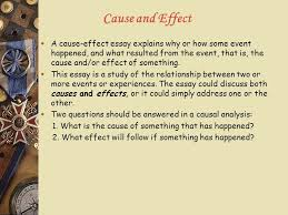 lecture seven cause and effect iii types of writing cause and 3 cause