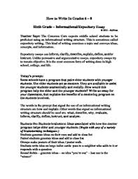 Informative Essays Examples Informative Essay Examples For Middle School Www Moviemaker Com