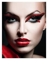 red devil eye makeup