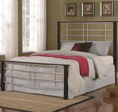 Coaster Iron Beds And Headboards Queen Two Tone Metal Bed With High  Headboard & Low Profile