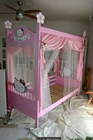 hello kitty bed furniture. how to transform a bunk bed ikea in canopy hello kitty gift for my furniture