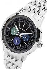 paul smith watch paul smith men quartz watch black dial silver stainless steel bracelet p10005