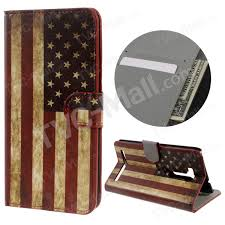 leather wallet stand cover for asus zenfone go go tv zb551kl vintage american flag