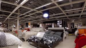 One side of people shopping their furniture inside Ikea store with