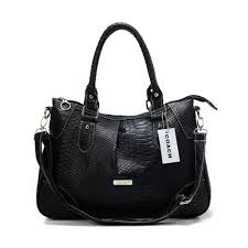 Coach Madison Embossed Medium Black Satchels DEJ