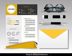 Modern Elegant Font For Resume Personal Resume Template Bright Modern Elegant Decor Free