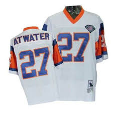 Throwback White Denver And Broncos Mitchell Nfl With Atwater Sale Patch 75th Steve Authentic Jersey Ness 27