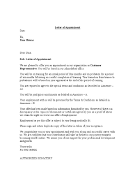 Appointment Letter With Bond Contractual Term Employment