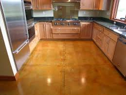 Cement Kitchen Floor How To Stain Concrete Adding Color To Cement Surfaces Hgtv