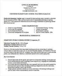 Elementary School Teacher Resume Delectable Resume Format For Teachers Job