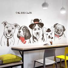 Creative Funny <b>Dog</b> Club Vinly Wall Stickers DIY Animal <b>Modern</b> ...