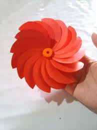 Making Of Flower With Paper How To Make Folded Circle Paper Flowers Thriftyfun