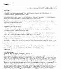 Air Conditioning Technician Resume Samples Maintenance Technician