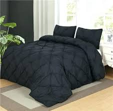 luxurious duvet cover set black pinch pleat 2 3pcs twin queen king sizebrown covers dark brown