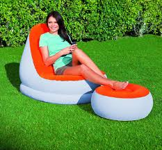 inflatable lounge furniture. Bestway 75053 Comfort Inflatable Relaxing Single Air Chair + Foot Rest Lounge Seat Sofa Furniture G