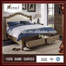 Customized Factory Supply Rose Wood Bedroom Furniture Rosewood Double Bed
