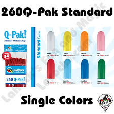 Qualatex Balloons Color Chart 260q Pak Standard Single Colors Qualatex 50ct