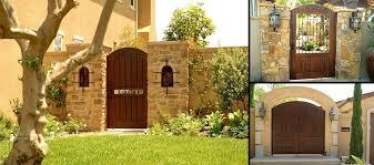 custom wood gates by garden passages