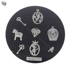 Creative Plate Designs Us 0 64 1pcs New Creative Designs Paitting Stamping Plate Beautiful Nail Art Stamp Stamping Plates Nail Art Template Tools H009 In Nail Art