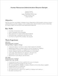 Hr Assistant Resume Hr Resume Template Human Resource Resume Samples Hr Resume Examples