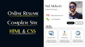 Cv Website Create Online Cv Website Using Html And Css Make Resume Website In Html Css