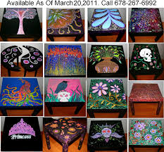 Funky Home Decor Hand Painted Coffee TablesNightstands All One Of