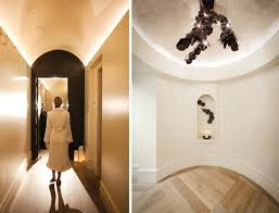 ceiling up lighting. the corridor and women ceiling up lighting w