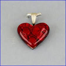 handmade glass heart pedants