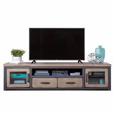distressed industrial furniture. Industrial Rustic Distressed Brown Gray Wood TV Stand Entertainment Center With 2 Drawers, Doors Furniture