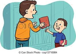 a boy borrowing a book in the public library borrowing clipart book exchange