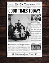 The Changing Times Newspaper Template Google Docs Old Newspaper Template By Newspaper Templates