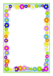 Small Picture Flowers A4 page borders SB10393 SparkleBox Plants in