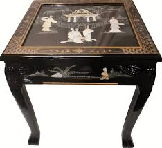 oriental furnishings dragon leg oriental end table