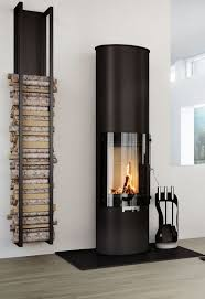 modern fireplace + wood storage - love the wood storage. The fireplace is  too modern for me