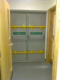 commercial door security bar. Commercial Door Security Bar. Fire Exit With Drop Bars, Vets, Nottingham Bar E