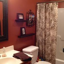 burnt orange bathroom i wanted to do this color with my shower curtain which