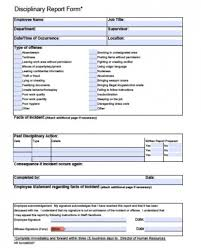 Disciplinary Forms For Employees Free Free Employee Write Up Form Printable Excel Template
