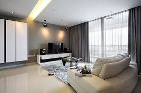 View in gallery Contemporary living room in gray and white