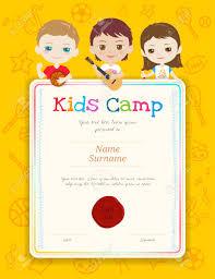 Kids Award Certificate Portrait Colorful Kids Award Diploma Certificate Template In