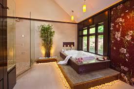 asian spa bathroom with decorative walls tranquil spa bathroom design