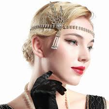 roaring 20s hairstyles for long hair inspirational 1920s style flapper headbands headdresses wigs makeup
