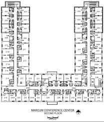 hotel floor plans. Marcum Center Second Floor Plan Hotel Plans