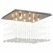 Kristallperlen Mit Deckenleuchte Silbern Cubic L5q8 G9