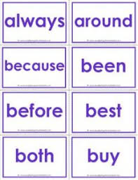 Dolch Sight Word Flash Cards Second Grade Color A