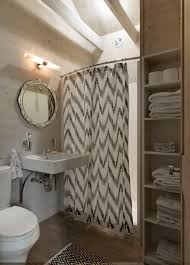 innovative double shower curtain rod in bathroom rustic with hide storage with curtains next to closet