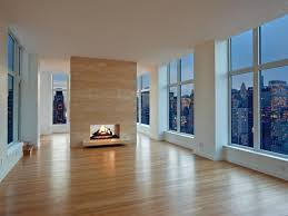 Here's a modern double-sided fireplace.