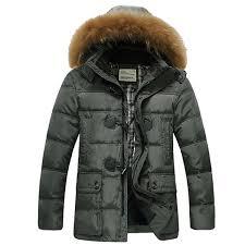wish puffer jacket horn on casual fur hooded winter men duck down coat thick long winter jacket men parka men