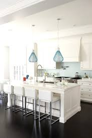 Blue Pendant Lights Kitchen With Turquoise Med Island And 4 On ...