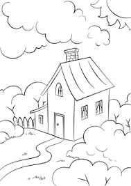 Small Picture Lovely House with Garden coloring page Free Printable Coloring Pages