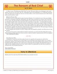 The Ransom Of Red Chief Plot Chart The Ransom Of Red Chief Reading Comprehension Worksheets